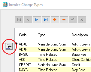 type in your new description click on the tick to save the record and then with the line still highlighted click the update charge templates with